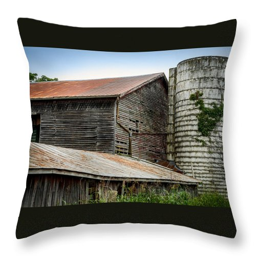 Shenandoah Valley Throw Pillow featuring the photograph Abandoned Barn by Pat Scanlon
