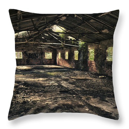 Abandoned Throw Pillow featuring the photograph Abandoned by Amanda Elwell