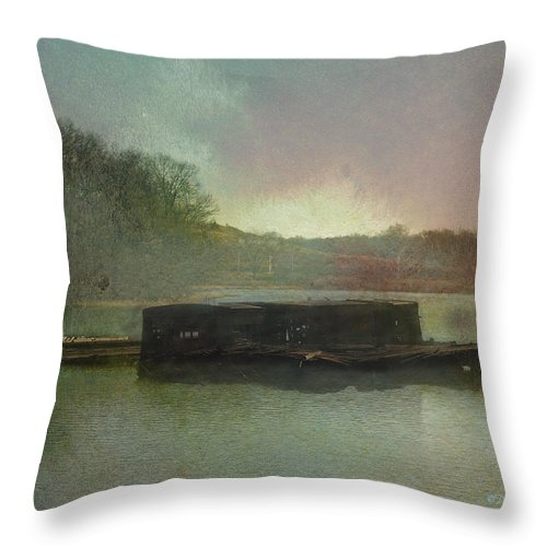 Wright Throw Pillow featuring the photograph Abandoned by Paulette B Wright