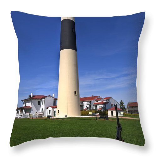 Lighthouse Throw Pillow featuring the photograph Absecon Lighthouse by Anthony Sacco