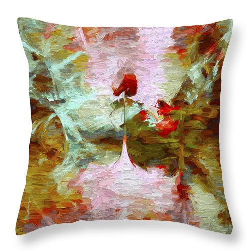 Abstract Throw Pillow featuring the digital art Abstract Series 07 by Carlos Diaz