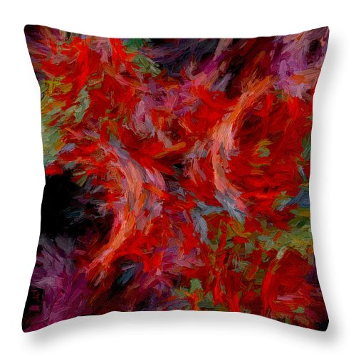 Abstract Throw Pillow featuring the digital art Abstract Series 08 by Carlos Diaz