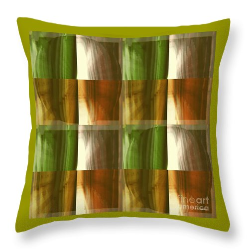 Abstract Throw Pillow featuring the mixed media Abstract 1 by Ann Calvo