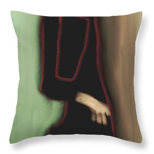 Fine Art Throw Pillow featuring the painting Abstract 1008 by Nedunseralathan R