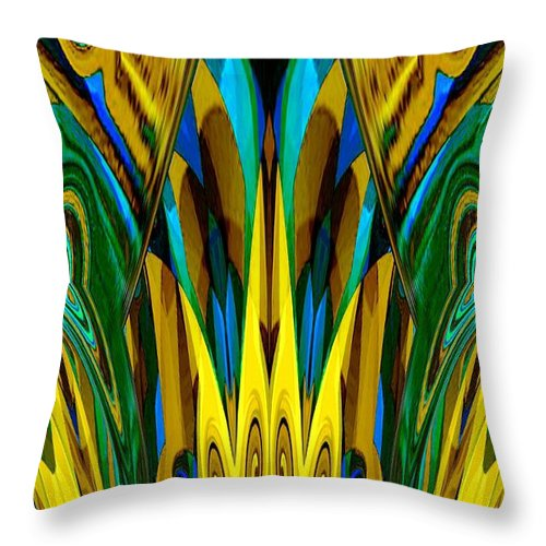 Abstract 150 Throw Pillow featuring the digital art Abstract 150 by Maria Urso