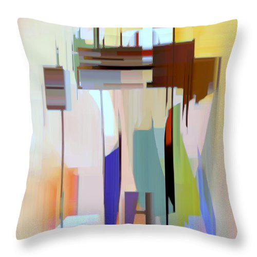 Abstract Throw Pillow featuring the digital art Abstract 16 by Rafael Salazar