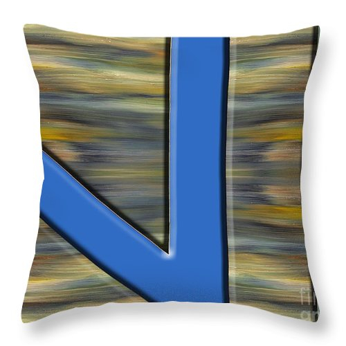 Abstract Throw Pillow featuring the painting Abstract 210 by Patrick J Murphy
