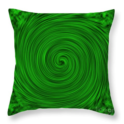 Green Throw Pillow featuring the photograph Abstract #3 by Judy Whitton