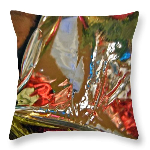 Multi-coloured Throw Pillow featuring the photograph Abstract 3632 by Stephanie Moore