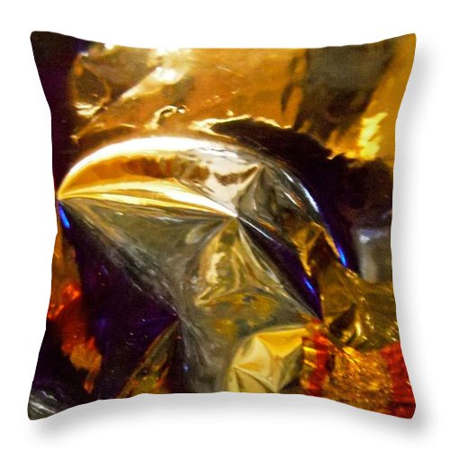 Gold Throw Pillow featuring the photograph Abstract 3634 by Stephanie Moore
