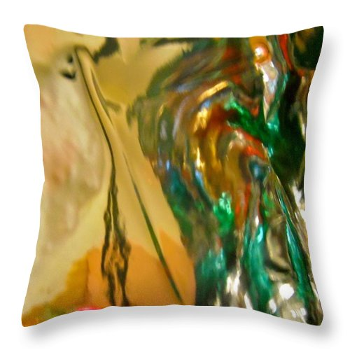 Yellow Throw Pillow featuring the photograph Abstract 3635 by Stephanie Moore