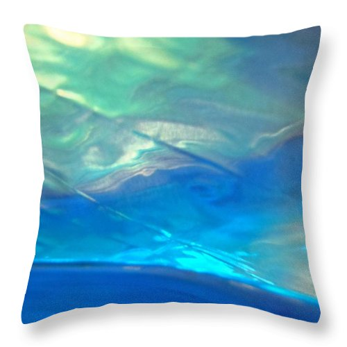 Blue Throw Pillow featuring the photograph Abstract 3918 by Stephanie Moore