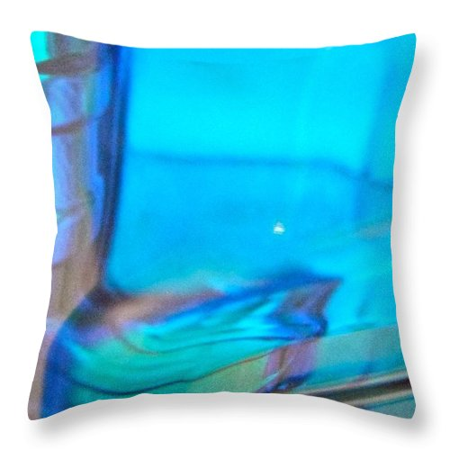 Blue Throw Pillow featuring the photograph Abstract 3921 by Stephanie Moore