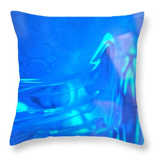 Blue Throw Pillow featuring the photograph Abstract 4410 by Stephanie Moore