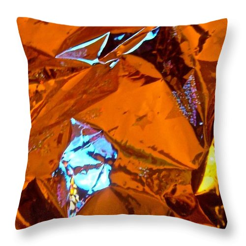Orange Throw Pillow featuring the photograph Abstract 4421 by Stephanie Moore