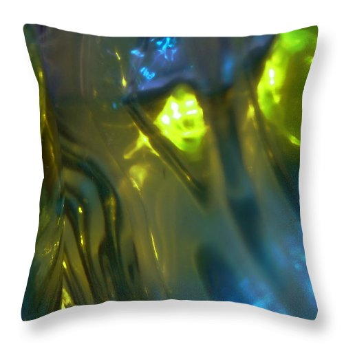 Green Throw Pillow featuring the photograph Abstract 4742 by Stephanie Moore