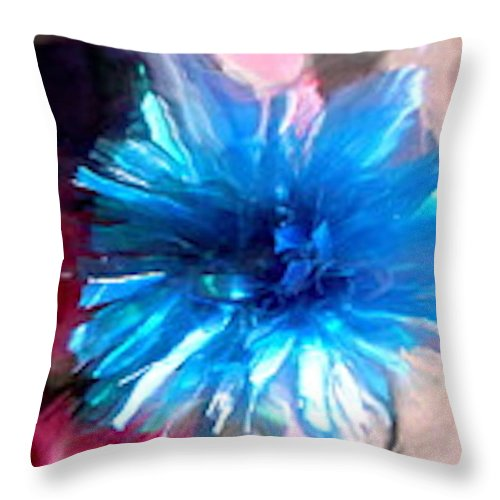 Blue Throw Pillow featuring the photograph Abstract 5379 by Stephanie Moore