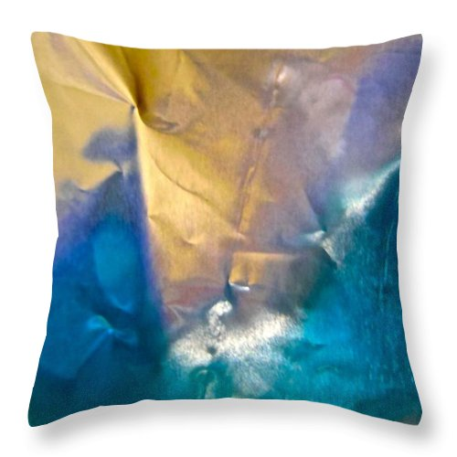 Blue Throw Pillow featuring the photograph Abstract 5382 by Stephanie Moore