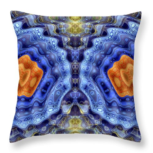 Digital Art Throw Pillow featuring the digital art Abstract 5475-22 by William Durfey