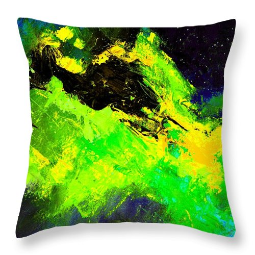 Abstract Throw Pillow featuring the painting Abstract 6954278 by Pol Ledent