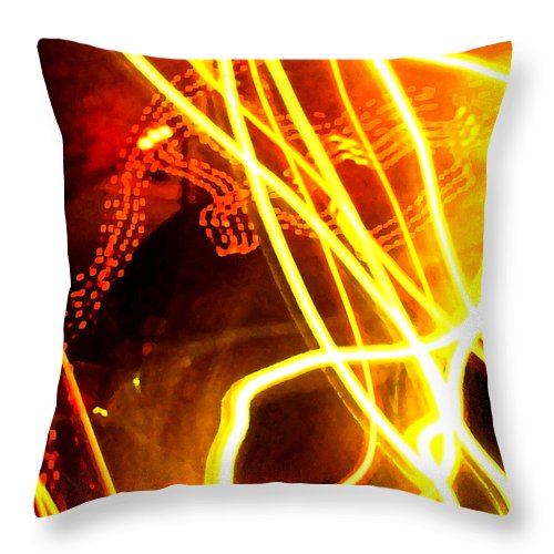 Abstract Throw Pillow featuring the photograph Abstract by Amanda Barcon