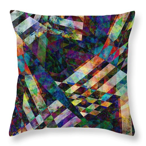Abstract Throw Pillow featuring the digital art abstract - art - Tilt Two by Ann Powell