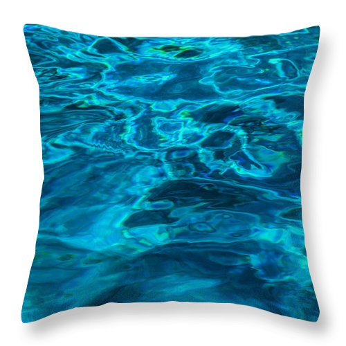 Water Photo Throw Pillow featuring the photograph Abstract Blue Water by Susan Stone