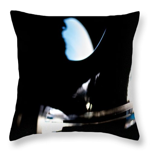 Reflection Throw Pillow featuring the photograph Abstract Cirrus by Paul Job