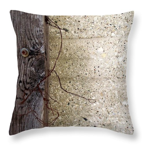 Industrial. Urban Throw Pillow featuring the photograph Abstract Concrete 11 by Anita Burgermeister