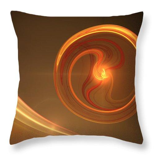 Digital Art Throw Pillow featuring the digital art Abstract Energy by Gabiw Art