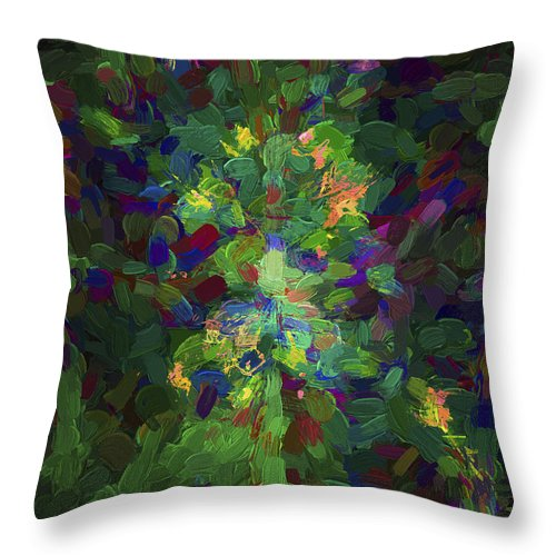 Abstract Throw Pillow featuring the digital art Abstract Series Ex1 by Carlos Diaz