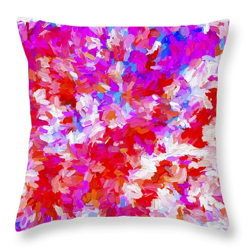 Abstract Throw Pillow featuring the digital art Abstract Series Ex2 by Carlos Diaz