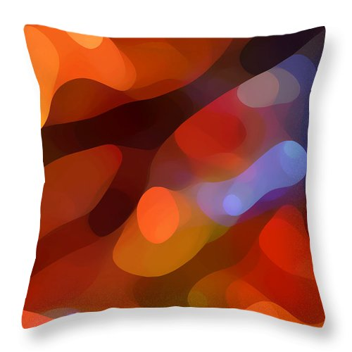 Abstract Art Throw Pillow featuring the painting Abstract Fall Light by Amy Vangsgard