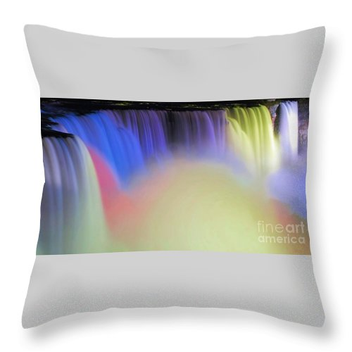 Niagara Throw Pillow featuring the photograph Abstract Falls by Kathleen Struckle