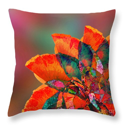 Flower Throw Pillow featuring the digital art Abstract Flower by Klara Acel
