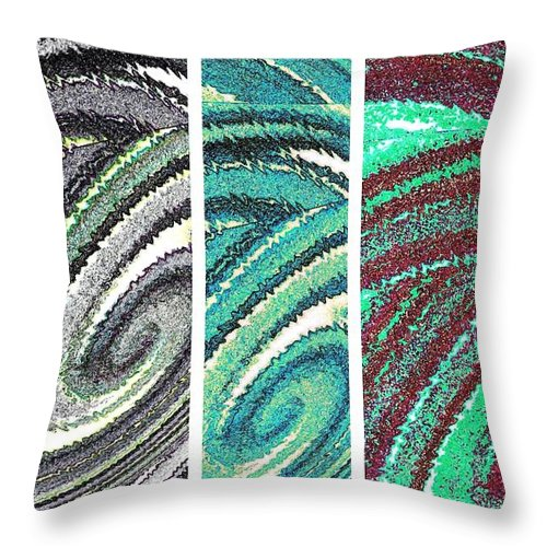 Abstract Fusion Throw Pillow featuring the digital art Abstract Fusion 180 by Will Borden