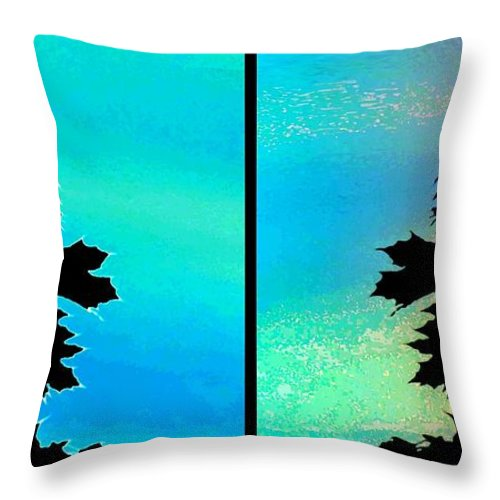 Abstract Fusion 243 Throw Pillow featuring the digital art Abstract Fusion 243 by Will Borden