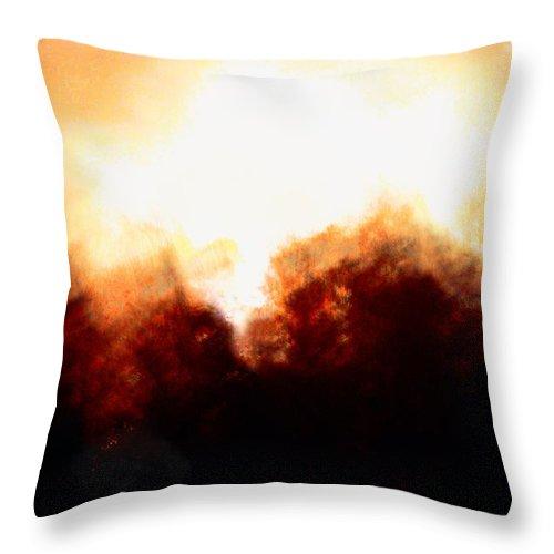 Abstract Golden Landscape Throw Pillow featuring the photograph Abstract Golden Landscape by Maria Urso