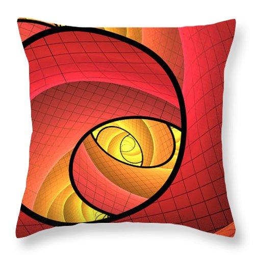Digital Art Throw Pillow featuring the digital art Abstract Network by Gabiw Art