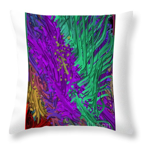 Art Throw Pillow featuring the digital art Abstract by One Ironaut