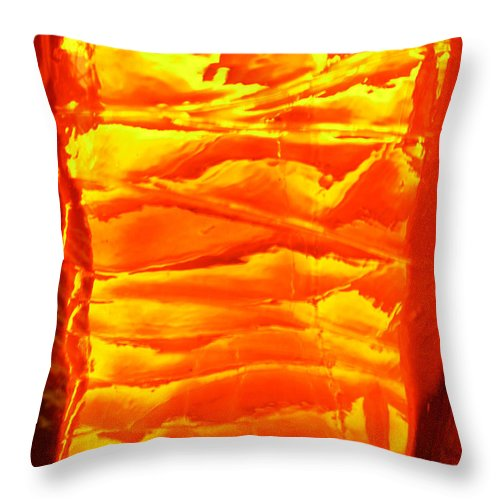 Orange Throw Pillow featuring the photograph Abstract Orange by Amanda Barcon