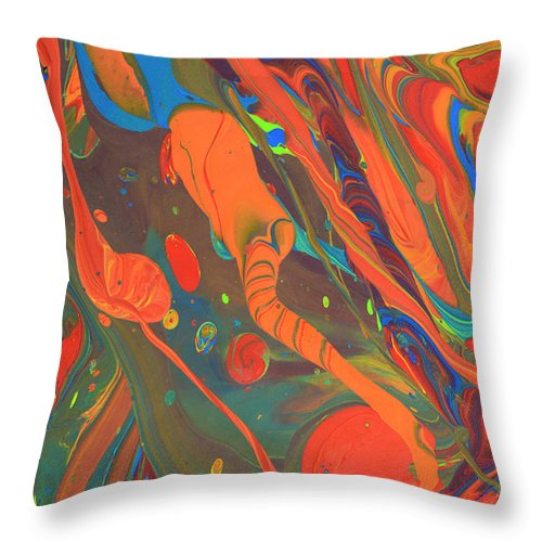 Full Frame Throw Pillow featuring the photograph Abstract Paint Background by Don Farrall