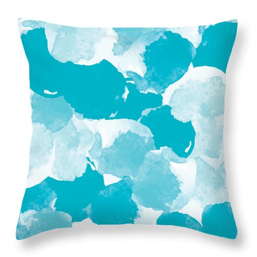 Watercolor Painting Throw Pillow featuring the digital art Abstract Painting Universal Freehand by Irinabogomolova