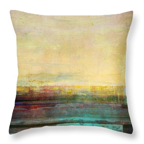 Abstract Throw Pillow featuring the digital art Abstract Print 5 by Filippo B