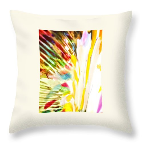 Colorful Throw Pillow featuring the photograph Abstract Rainbow by Michele Monk