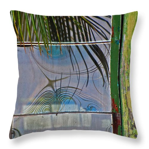 Window Throw Pillow featuring the photograph Abstract Reflection by Jani Freimann
