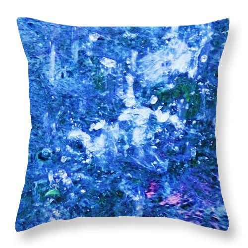 Abstract Throw Pillow featuring the photograph Abstract Splashing Water by Eric Schiabor