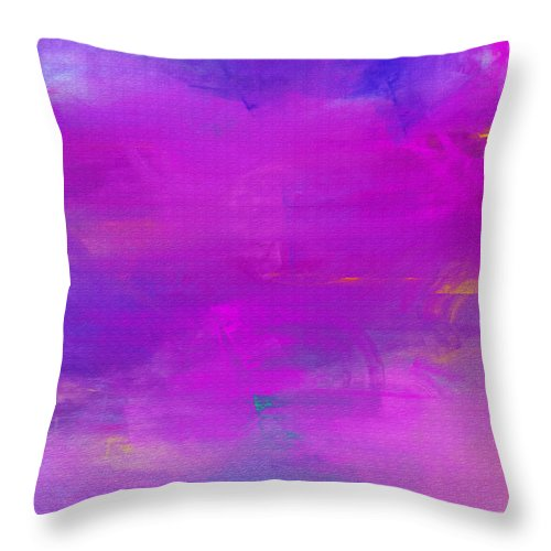 Abstract Throw Pillow featuring the digital art Abstract Splendor by Andee Design