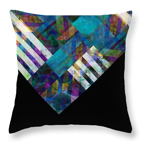 Abstract Throw Pillow featuring the digital art Abstract Study Twelve by Ann Powell