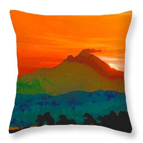 Greece Throw Pillow featuring the digital art Abstract Sunrise by Roy Pedersen